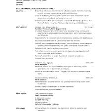 Parts Of A Resume Generous Automotive Parts Manager Resume Ideas Example Resume 93