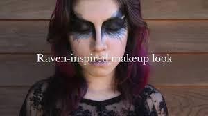 raven inspired makeup look