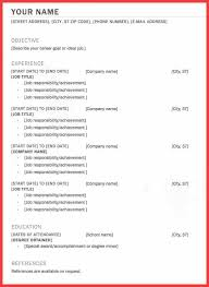 One Job Resume Examples