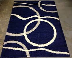 navy blue and white area rugs. modren rugs dark blue area rugs square circle and wave pattern minimalist shag  wool 57 navy blue shaggy room area rug silver white circle swirls actual 49 throughout and rugs s