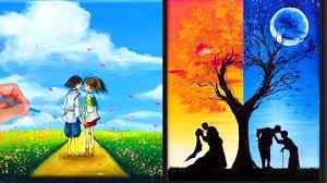Nghệ thuật vẽ tranh đỉnh cao của họa sĩ Trung Quốc ▷28 ? Vẽ tranh phong  cảnh tình yêu lãng mạn ? - YouTube