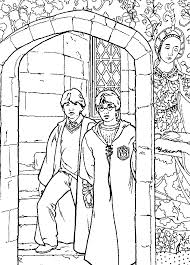 Coloring Page Harry Potter And The