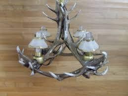 elk antler chandelier larger image