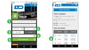 Tripplanner Com Mobile Trip Planner Lane Transit District