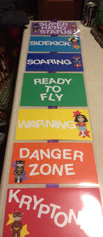 Behavioral Chart Superhero Theme Classroommanagement