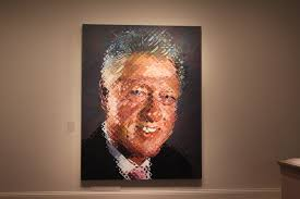 bill clinton s presidential portrait has a reference to monica   image that manages to be at once both more abstract and more staid and straightforward