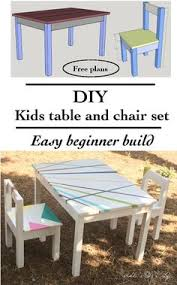 diy easy and cute kids play table and chair set easy free plans included