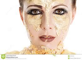gold face make up
