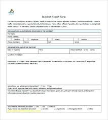 Incident Report Template Word Inspirational Lovely Free Sample
