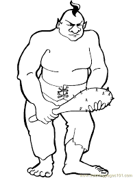 Small Picture Troll Giant Coloring Page 08 Coloring Page Free Fantasy Coloring