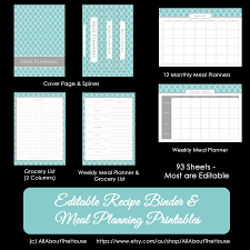 Recipe Binder Templates Make Your Own Personalised Printable Recipe Binder All