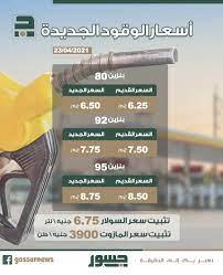 إنفوجراف| أسعار البنزين الجديدة 2021