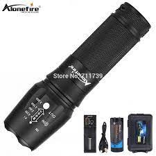 Alonefire X800 Chiến Thuật Đèn Pin Cree XML T6 L2 U3 Led Zoom Siêu Sáng  Chống Nước Hike Torch Đèn AAA Sạc 26650 pin|LED Flashlights