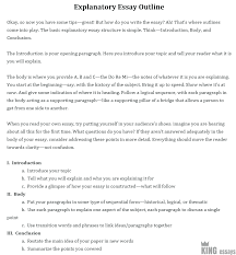Explanatory Essay Format How Do You Write An Explanatory Essay Writing Help With