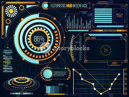 Vector Graphs And Charts Futuristic Hud Interface Ui Ux Design Big Set Of