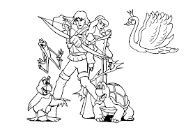 wonderful the swan princess coloring pages odette ideas