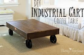 Mill Cart Coffee Table Diy Industrial Cart Coffee Table