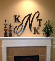 monogram letters for wall initial letter wall decor 1000 ideas about large wooden letters on