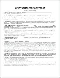Apartment Lease Printable Sample Rental Lease Agreement Templates ...