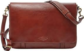 fossil aiden leather messenger bag