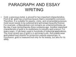 paragraph and essay writing ppt video online paragraph and essay writing