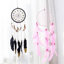 Materials For A Dream Catcher USD 1007100] Indian feather dream catcher ornaments creative home 29