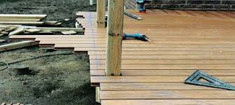 chalk a straight line and cut deck boards after they are all installed building composite n82