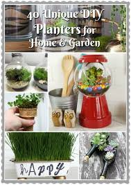 40 unique diy planters home garden