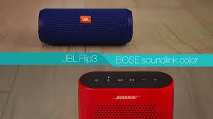 Jbl Flip 3 Vs Bose Soundlink Color Review Youtube