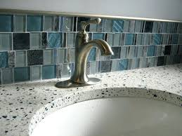 glass tile bathroom countertop this picture here glass mosaic tiles bathroom countertop