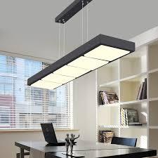 office light fixtures. LED Pendant Lights Home Lighting Fixtures Lamparas Colgantes Office Rectangular Barnging Lamps White Black Hanglampen-in From Light