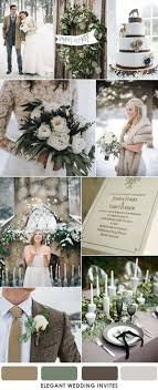 brown and muted sage green winter wedding ideas