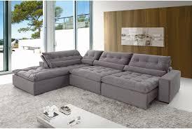 sofa retratil. sof de canto 7 lugares retrtil e reclinvel confortable sofa retratil