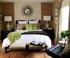 Brown, Black, White, and Green room. Love it! My new bedroom