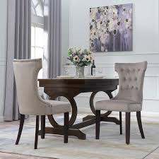 details about set of 2 parsons elegant tufted upholestered dining chair living dining taupe