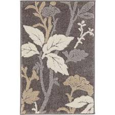 blooming flowers gray 3 ft x 5 ft area rug