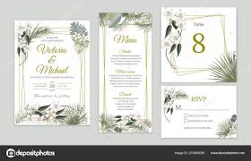 Wedding Invitations With Tree Designs Wedding Invitation Card Design Floral Invite Tropical