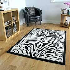 black and white zebra rug safari animal stripe print x 7 area rugs ze