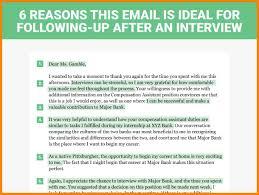 9 Job Interview Follow Up Letter Write Memorandum