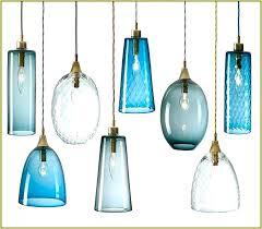 sea glass pendant light blue sea glass pendant lighting captivating hand blown lights epic furniture design