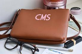 monogram leather purse