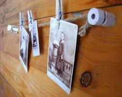 rustic office decor. photo display wall hanging knob and tube rustic office decor