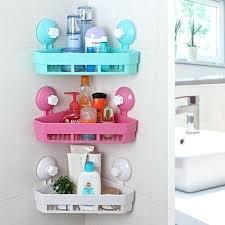 4 colors plastic bathroom corner triangle er storage racks wall mounted shelves holder home organizer white bathroom shelves