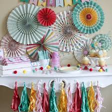 Paper Rosette Flower 6 Sets 48pcs Basics Mint Coral Pinwheel Backdrop Paper Rosette