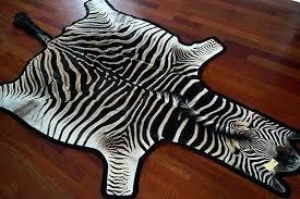 zebra hide rug felted zebra skin rug grade a small zebra cowhide rug