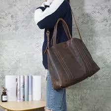 Hand Made <b>Vintage</b> Leather <b>Magnetic Buckle</b> Shoulder Bag ...