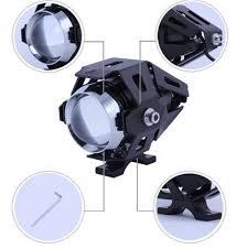125W Motorcycle Fog Lights CREE <b>U5 Super Bright</b> LED Headlight ...