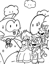Princess with Mario coloring pages | Mario Bros games | Mario Bros ...