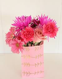 Paper Flower Base A Bubbly Lifegold Leaf Paper Flower Vase A Bubbly Life