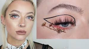 runway elf editorial makeup tutorial putting dead flowers on my face